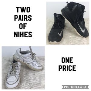 Nike 2 pairs: high tops / sneakers youth sizes